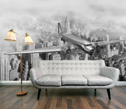 Manhattan 1950's Flight wallpaper mural
