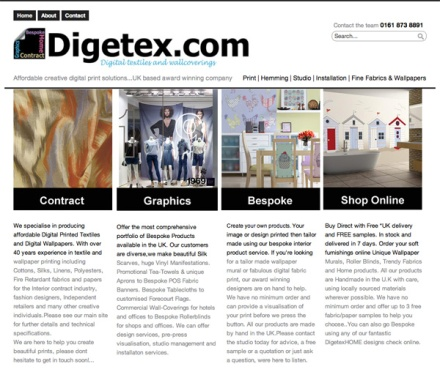 The NEW Digetex website